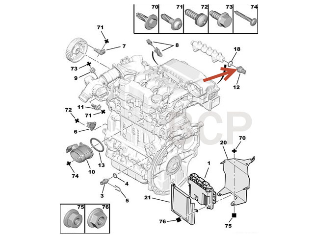 Ford 4 6 Coolant Temperature Sensor Location as well  on 1055378 7 3 engine temp sensor